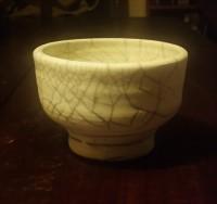 Raku Crackle glazed bowl