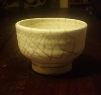 Raku Crackle glazed bowl