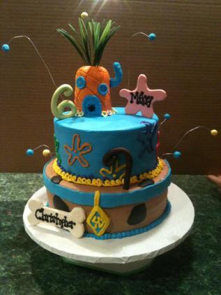 ScoobyDoo Spongebob Cake