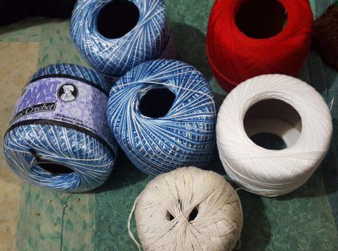various cotton crochet thread