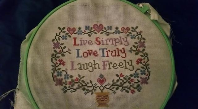 saying cross stitch